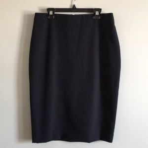 Ann Taylor Collection Navy Pencil Skirt Size 4